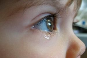 raffreddore occhio bambino